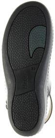 Hauer Wohlfühl-Pantoletten schwarz Leder Wechselfußbett atmungsaktiv chromfrei rutschhemmende Sohle Klett Sandale Damen 138541-809 LISA13 – Bild 6