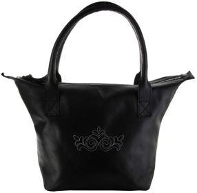 Bergheimer Trachten Damen Leder Trachtentasche JENNY1004 schwarz – Bild 3