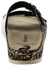 Bioline Bios Sandalen Hausschuhe Lederdeck gold leicht non-marking Sohle Damen Schuhe – Bild 4