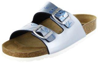 Bioline Bios Sandalen Hausschuhe Lederdeck blau leicht non-marking Sohle Damen Schuhe Amarilli – Bild 1