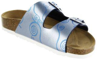 Bioline Bios Sandalen Hausschuhe Lederdeck blau leicht non-marking Sohle Damen Schuhe Amarilli – Bild 8