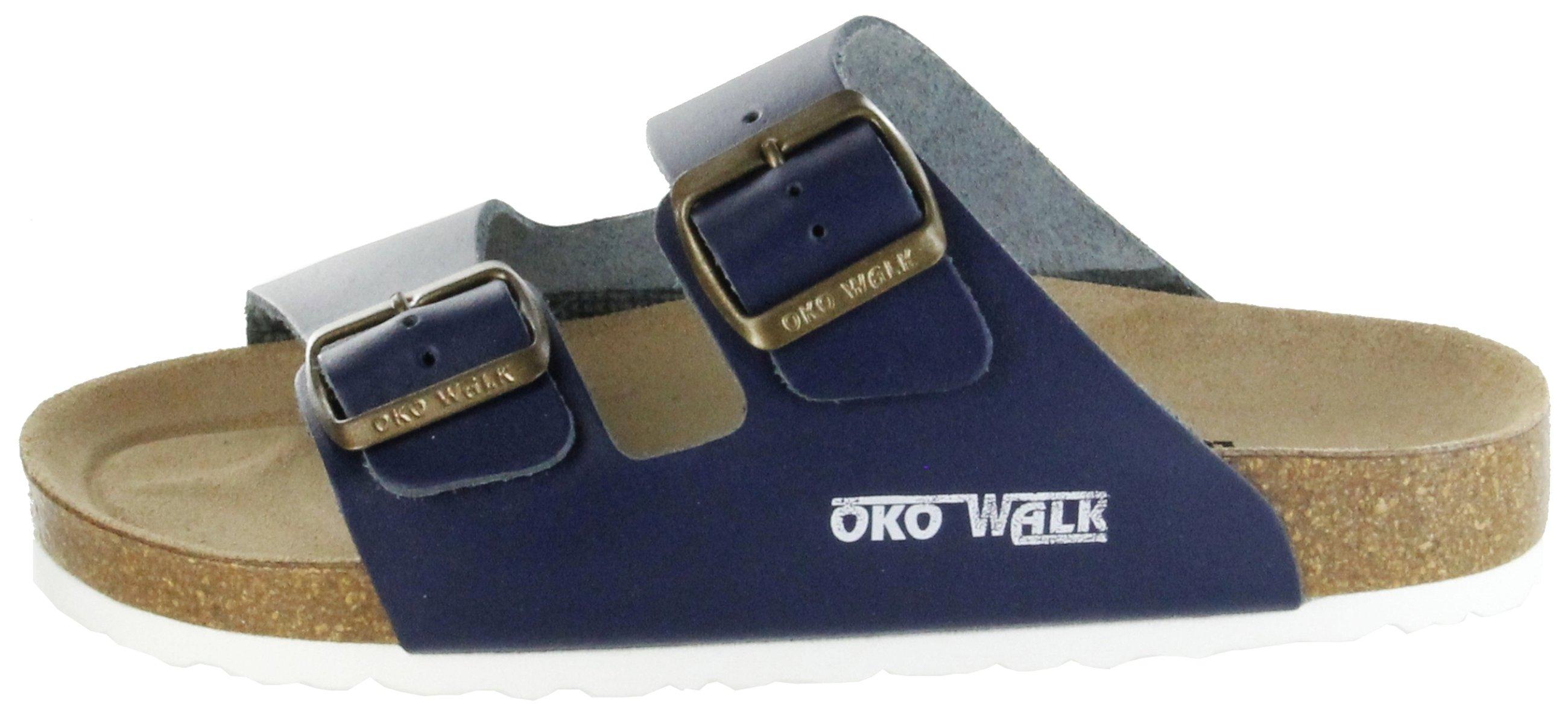 check out 10870 ba872 ÖkoWalk Bios Sandalen Hausschuhe Lederdeck blau leicht non-marking Sohle  Herren Schuhe Theo