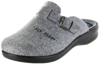 FlyFlot Pantoletten Hausschuhe Dämpfung bequem grau Damen Schuhe 25448 grigio – Bild 1