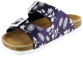 ÖkoWalk Bios Sandalen Hausschuhe Lederdeck purple leicht non-marking Sohle Kinder Schuhe Melody – Bild 8