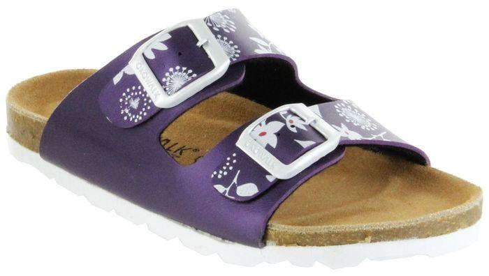ÖkoWalk Bios Sandalen Hausschuhe Lederdeck purple leicht non-marking Sohle Kinder Schuhe Melody