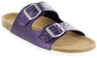 ÖkoWalk Bios Sandalen Hausschuhe Lederdeck purple leicht non-marking Sohle Mädchen Schuhe Victoria – Bild 1