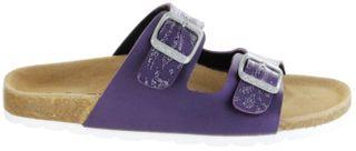 ÖkoWalk Bios Sandalen Hausschuhe Lederdeck purple leicht non-marking Sohle Mädchen Schuhe Victoria – Bild 2