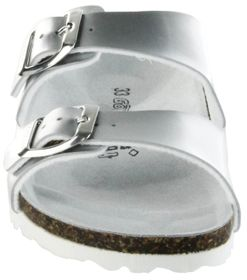 Goldstar Bios Sandalen Hausschuhe Lederdeck silber leicht non-marking Sohle Kinder Mädchen Damen Schuhe 1523 argento – Bild 9