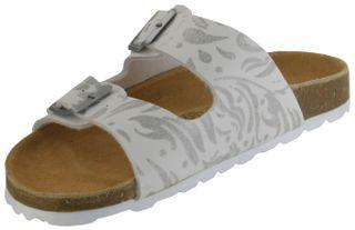 ÖkoWalk Bios Sandalen Hausschuhe Lederdeck weiß leicht non-marking Sohle Damen Schuhe Victoria – Bild 8