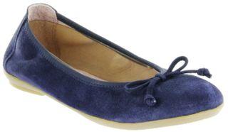 Richter Kinder Ballerinas blau Velourleder Mädchen Schuhe 3510-342-7200 atlantic Yvonne – Bild 1