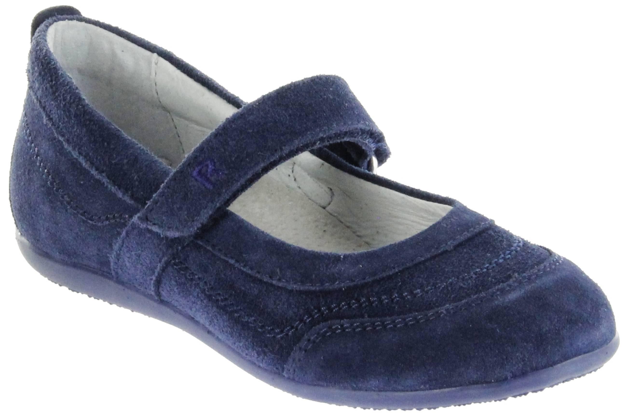 das Neueste 41ba4 a9946 Richter Kinder Ballerinas blau Velour Klett Mädchen Schuhe 3412-341-7200  atlantic Adele