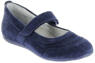 Richter Kinder Ballerinas blau Velour Klett Mädchen-Schuhe 3412-341-7200 atlantic Adele – Bild 1