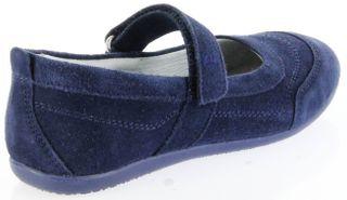 Richter Kinder Ballerinas blau Velour Klett Mädchen-Schuhe 3412-341-7200 atlantic Adele – Bild 3
