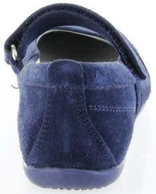 Richter Kinder Ballerinas blau Velour Klett Mädchen-Schuhe 3412-341-7200 atlantic Adele – Bild 4