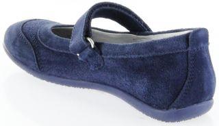 Richter Kinder Ballerinas blau Velour Klett Mädchen-Schuhe 3412-341-7200 atlantic Adele – Bild 5