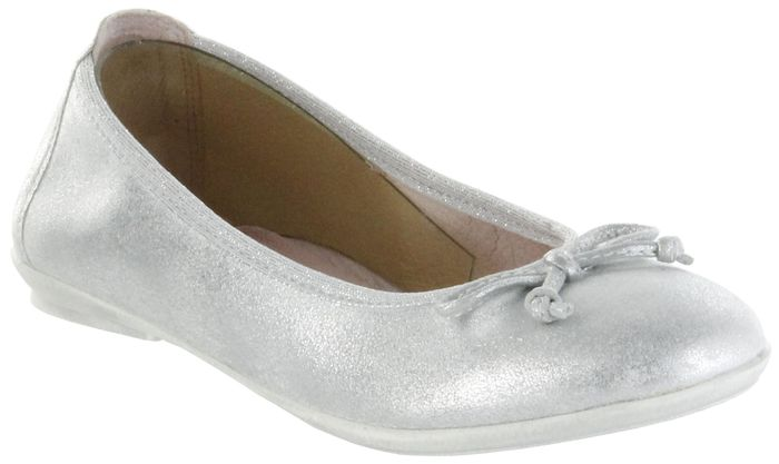 Richter Kinder Ballerinas silber Metallicleder Mädchen Schuhe 3510-341-0200 Yvonne