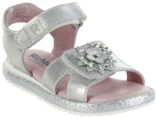 Richter Kinder Sandaletten silber Metallicleder Mädchen Schuhe 5301-341-0200 Romea – Bild 1