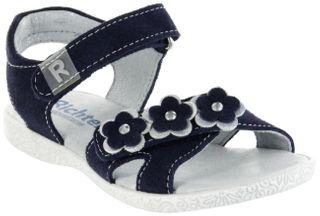 Richter Kinder Sandaletten blau Velourleder Mädchen Schuhe 5004-343-7201 atlantic Sissi  – Bild 1