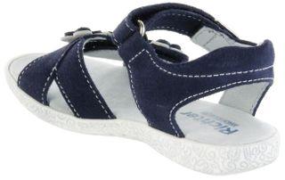 Richter Kinder Sandaletten blau Velourleder Mädchen Schuhe 5004-343-7201 atlantic Sissi  – Bild 5