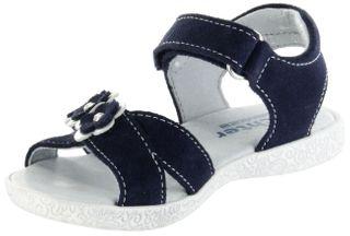 Richter Kinder Sandaletten blau Velourleder Mädchen Schuhe 5004-343-7201 atlantic Sissi  – Bild 8