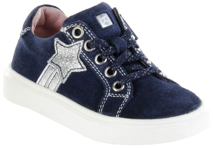 Richter Kinder Halbschuhe Sneaker blau Velourleder Mädchen Schuhe 3721-342-7201 atlantic Flora