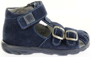 Richter Kinder Lauflerner-Sandalen blau Velour Jungen Schuhe 2106-341-7200 atlantic Terrino – Bild 2