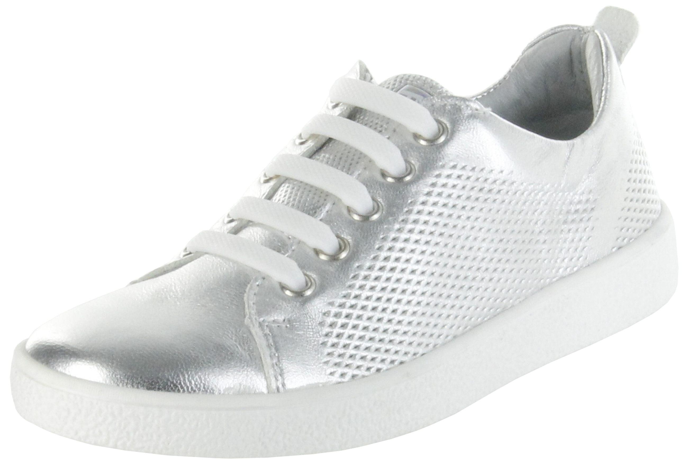 san francisco 9aef2 5ba6c Richter Kinder Halbschuhe Sneaker silber Metallicleder Mädchen Schuhe  3621-342-0200 Rimmel