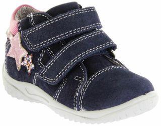 Richter Kinder Lauflerner blau Velourleder SympaTex Mädchen-Schuhe 0438-341-7201 atlantic Mogli – Bild 1