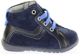 Richter Kinder Minis blau Velourleder Schnürer Jungen Schuhe 0028-341-7201 atlantic Duplo – Bild 2