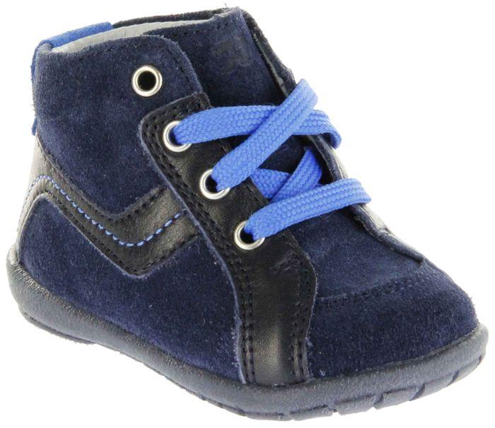 Richter Kinder Minis blau Velourleder Schnürer Jungen Schuhe 0028-341-7201 atlantic Duplo
