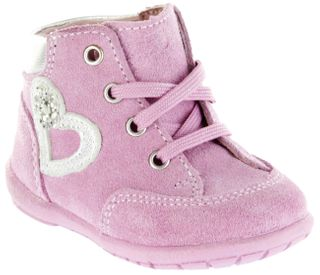 Richter Kinder Minis pink Velour Lederdeck Schnürer Mädchen-Schuhe 0024-341-3111 candy Duplo – Bild 1