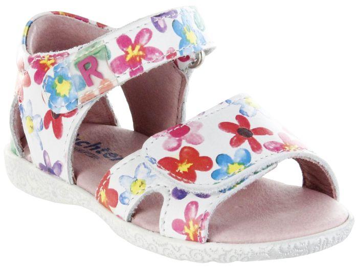 Richter Kinder Lauflerner-Sandalen weiß Glattleder Mädchen Schuhe 2201-346-0400 panna Sissi S