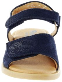 Richter Kinder Sandaletten blau Velourleder Mädchen-Schuh 5401-341-7200 atlantic Barbara  – Bild 9