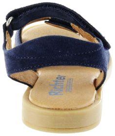 Richter Kinder Sandaletten blau Velourleder Mädchen Schuhe 5401-341-7200 atlantic Barbara  – Bild 4
