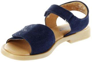 Richter Kinder Sandaletten blau Velourleder Mädchen Schuhe 5401-341-7200 atlantic Barbara  – Bild 8