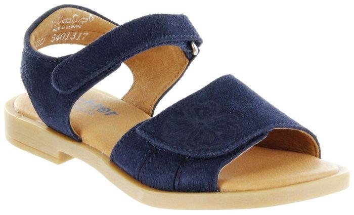 Richter Kinder Sandaletten blau Velourleder Mädchen Schuhe 5401-341-7200 atlantic Barbara