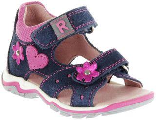 Richter Kinder Lauflerner-Sandalen blau Velourleder Mädchen Schuhe 2302-341-7201 atlantic Jumbo