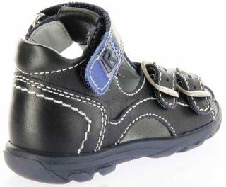 Richter Kinder Lauflerner-Sandalen blau Glattleder Jungen Schuhe 2103-341-7201 atlantic Terrino – Bild 3