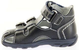 Richter Kinder Lauflerner-Sandalen blau Glattleder Jungen Schuhe 2103-341-7201 atlantic Terrino – Bild 7
