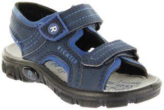 Richter Kinder Sandaletten Outdoor blau Lederdeck Jungen 8101-341-7201 atlantic Adventure – Bild 1