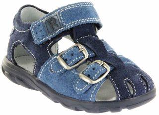 Richter Kinder Lauflerner-Sandalen blau Velourleder Jungen Schuhe 2105-342-7202 atlantic Terrino – Bild 1