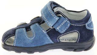 Richter Kinder Lauflerner-Sandalen blau Velourleder Jungen Schuhe 2105-342-7202 atlantic Terrino – Bild 7