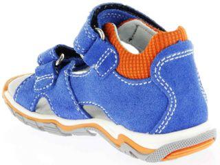 Richter Kinder Lauflerner-Sandalen blau Velourleder Jungen Schuhe 2301-341-6911 lagoon Jumbo – Bild 5