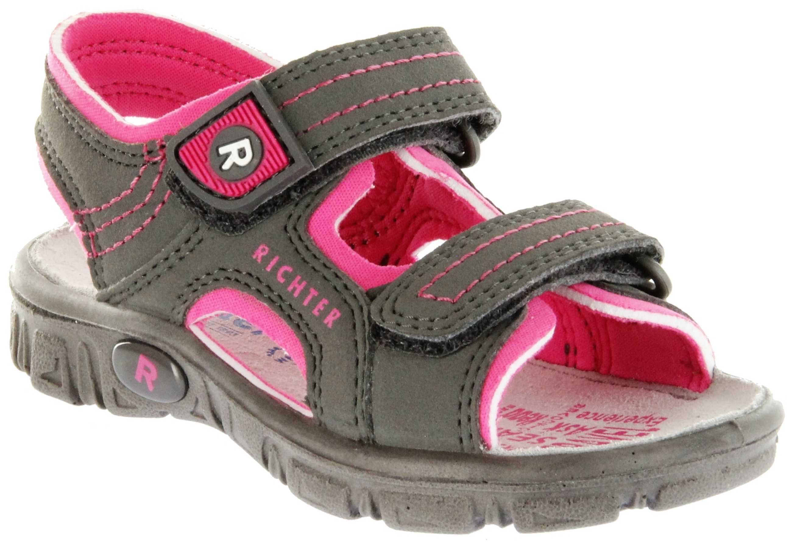 Kinder Lederdeck 6612 Adventure Sandaletten Pebble 8101 341 Richter Outdoor Grau Mädchen shQrdCtx