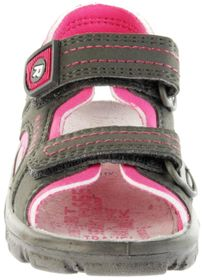 Richter Kinder Sandaletten Outdoor grau Lederdeck Mädchen 8101-341-6612 pebble Adventure – Bild 9