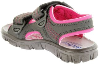 Richter Kinder Sandaletten Outdoor grau Lederdeck Mädchen 8101-341-6612 pebble Adventure – Bild 5