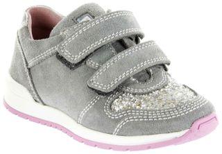 Richter Kinder Halbschuhe Sneaker grau Velourleder Mädchen Schuhe 3331-342-6101 rock Volley – Bild 1