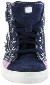 Richter Kinder Halbschuhe Blinkies Sneaker blau Velourleder Mädchen-Schuhe 4449-341-7201 atlantic Ilva – Bild 9