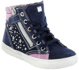 Richter Kinder Halbschuhe Blinkies Sneaker blau Velourleder Mädchen-Schuhe 4449-341-7201 atlantic Ilva