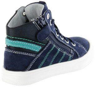 Richter Kinder Halbschuhe Sneaker blau Velourleder Jungen Schuhe 6545-341-7201 atlantic Ola – Bild 3